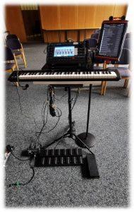 Soundcheck mit Midi-Keyboard an Ketron SD40 Arranger - Arbeitsplatz Keyboard