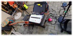 """Duo Dulbano"" - OMK-Hofkonzert - 2020-07-30 - Arbeitsplatz Reinhard (Akkordeon)"